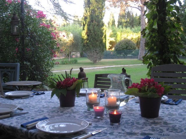 Dining on the Terrace Overlooking the Property